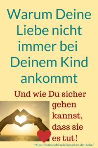 Liebe zeigen, Liebe geben - mit den Sprachen der Liebe für Familien und Eltern