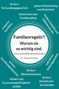 Vorteile von Familienregeln, die man für Kinder aufstellen kann. Regeln selber machen und gestalten als Familie