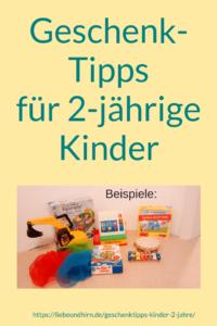 Geschenktipps, Empfehlungen und Vorschläge für Kinderspielzeug, Spielsachen für 2-jährige Kinder