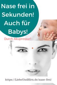 Nase verstopft, Schnupfen, Ohren zu oder Nasennebenhöhlenentzündung? Akupressur-Trick