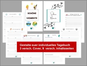 Tagebuch individuell gestalten Vorlagen für Eltern mit Kindern zum Download